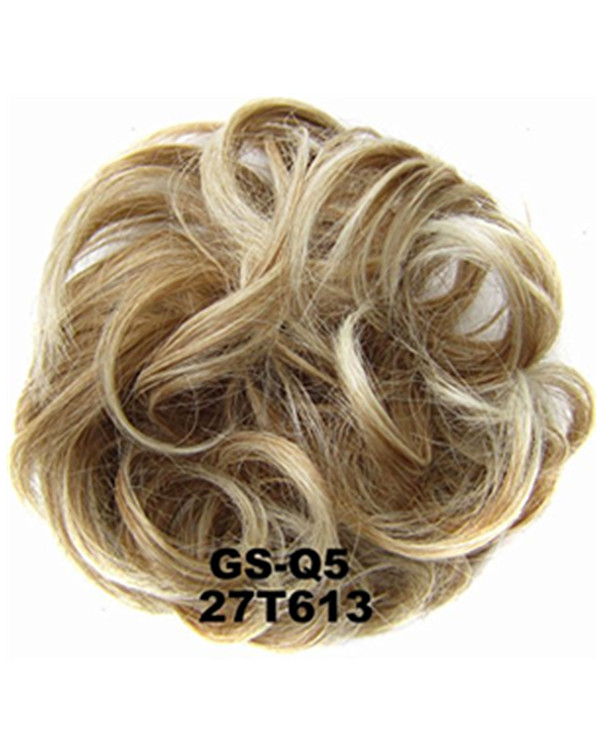 FESHFEN Wavy Messy Hair Bun Donut Hair Chignons Hairpiece Scrunchy Scrunchie - 27T613