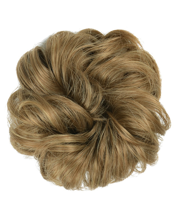 FESHFEN Wavy Messy Hair Bun Donut Hair Chignons Hairpiece Scrunchy Scrunchie -#12/24