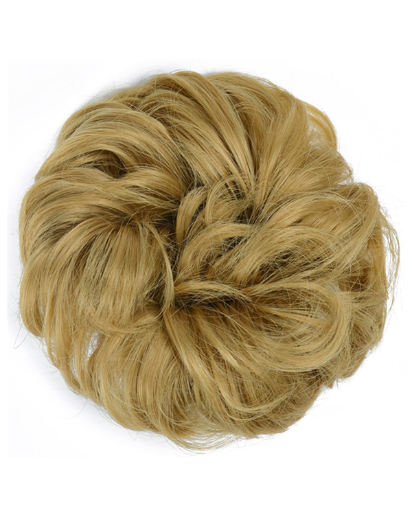 FESHFEN Wavy Messy Hair Bun Donut Hair Chignons Hairpiece Scrunchy Scrunchie - 119# Light Blonde