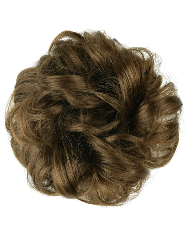 FESHFEN Wavy Messy Hair Bun Donut Hair Chignons Hairpiece Scrunchy Scrunchie - #10