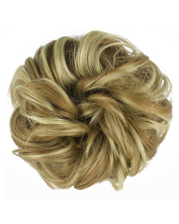 FESHFEN Wavy Messy Hair Bun Donut Hair Chignons Hairpiece Scrunchy Scrunchie - #12H24