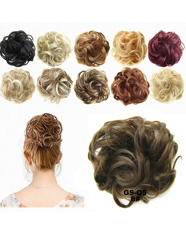 Hot Sale On Amazon! FESHFEN Wavy Messy Hair Bun Donut Hair Chignons Hairpiece Scrunchy Scrunchie Ponytail Extensions