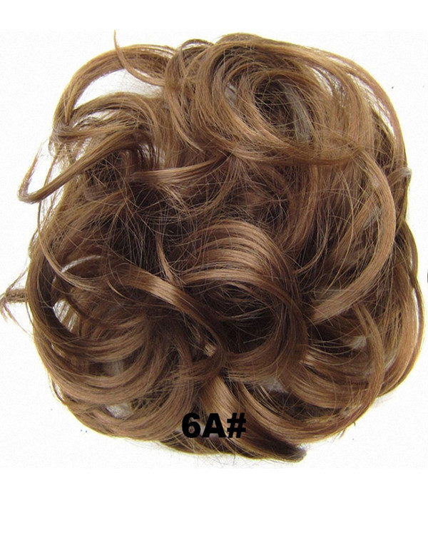 FESHFEN Wavy Messy Hair Bun Donut Hair Chignons Hairpiece Scrunchy Scrunchie - #6A