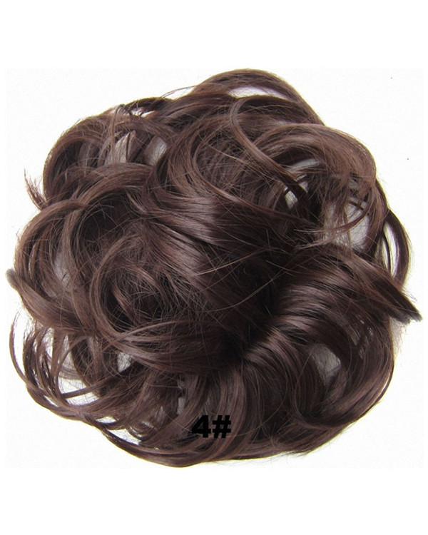 FESHFEN Wavy Messy Hair Bun Donut Hair Chignons Hairpiece Scrunchy Scrunchie - #4