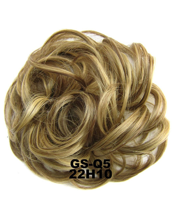 FESHFEN Wavy Messy Hair Bun Donut Hair Chignons Hairpiece Scrunchy Scrunchie - #22H10