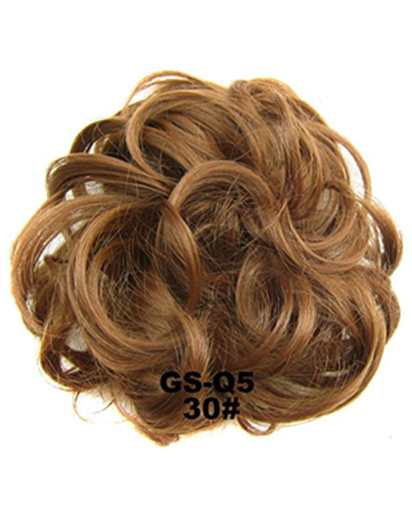 FESHFEN Wavy Messy Hair Bun Donut Hair Chignons Hairpiece Scrunchy Scrunchie - #30
