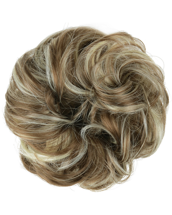 FESHFEN Wavy Messy Hair Bun Donut Hair Chignons Hairpiece Scrunchy Scrunchie - #10H613