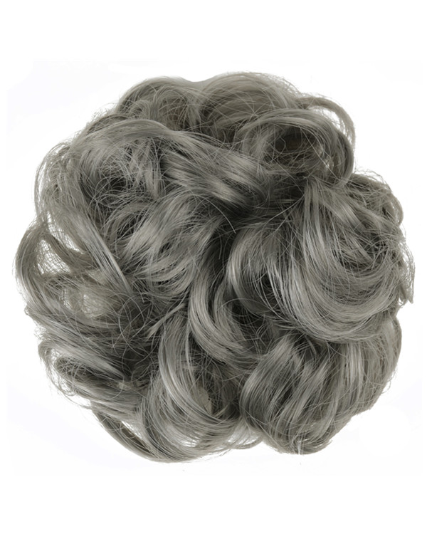 FESHFEN Wavy Messy Hair Bun Donut Hair Chignons Hairpiece Scrunchy Scrunchie - #171 Smoky Grey