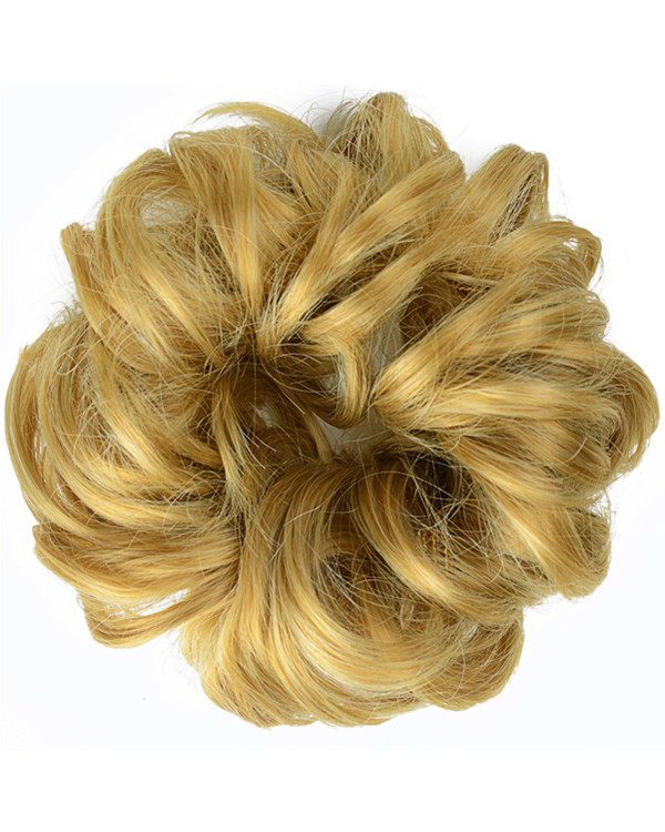 FESHFEN Wavy Messy Hair Bun Donut Hair Chignons Hairpiece Scrunchy Scrunchie - #22/613