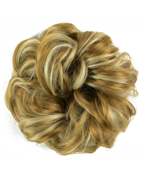 FESHFEN Wavy Messy Hair Bun Donut Hair Chignons Hairpiece Scrunchy Scrunchie - #22H613