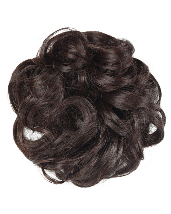 FESHFEN Wavy Messy Hair Bun Donut Hair Chignons Hairpiece Scrunchy Scrunchie - #233