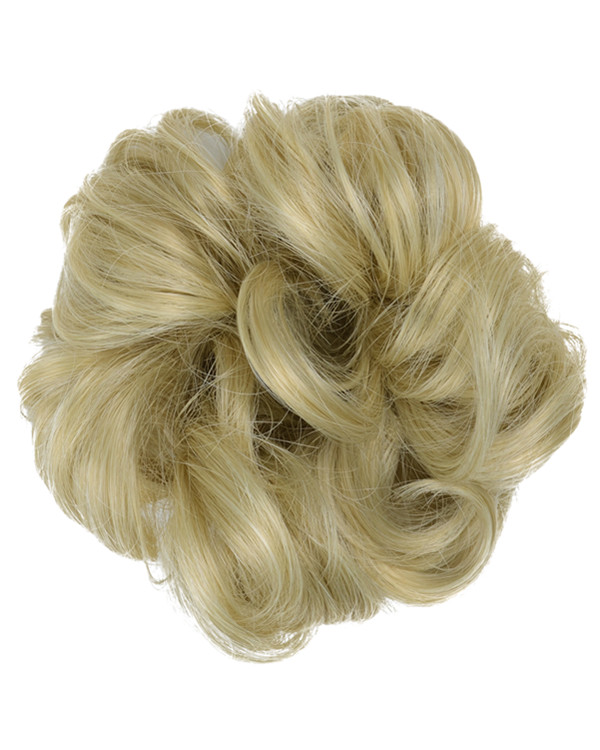 FESHFEN Wavy Messy Hair Bun Donut Hair Chignons Hairpiece Scrunchy Scrunchie - #24/613