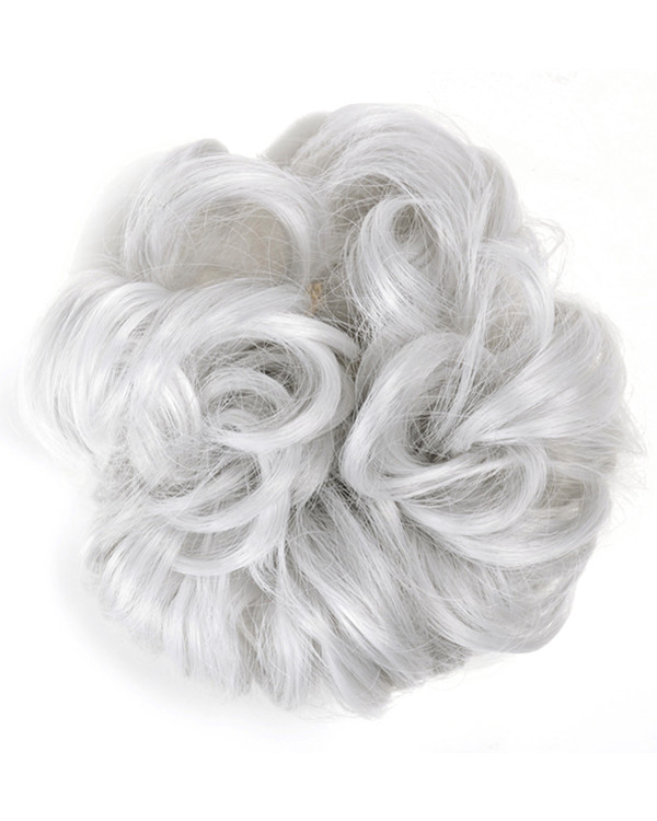 FESHFEN Wavy Messy Hair Bun Donut Hair Chignons Hairpiece Scrunchy Scrunchie - #60B