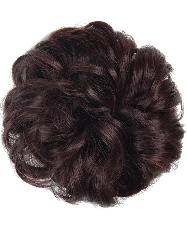 FESHFEN Wavy Messy Hair Bun Donut Hair Chignons Hairpiece Scrunchy Scrunchie - #99J