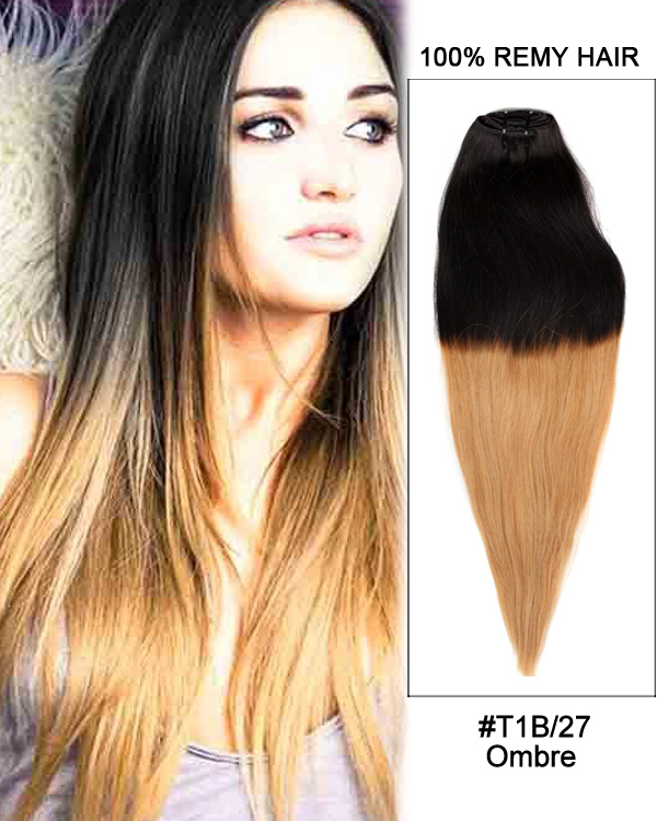 7pcs clip in human hair extensions t1bblonde ombre straight hair 18 7pcs clip in human hair extensions t1bblonde ombre straight hair 100 remy hair pmusecretfo Gallery