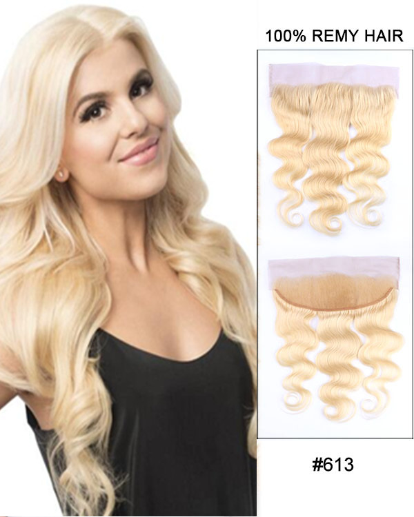 13*4 Free Part Lace Closure #613 Body Wave Brazilian Hair For African American