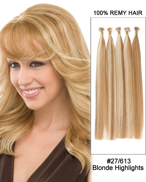 1427613 Strawberryash Blonde Highlights Straight Flat Tip 100
