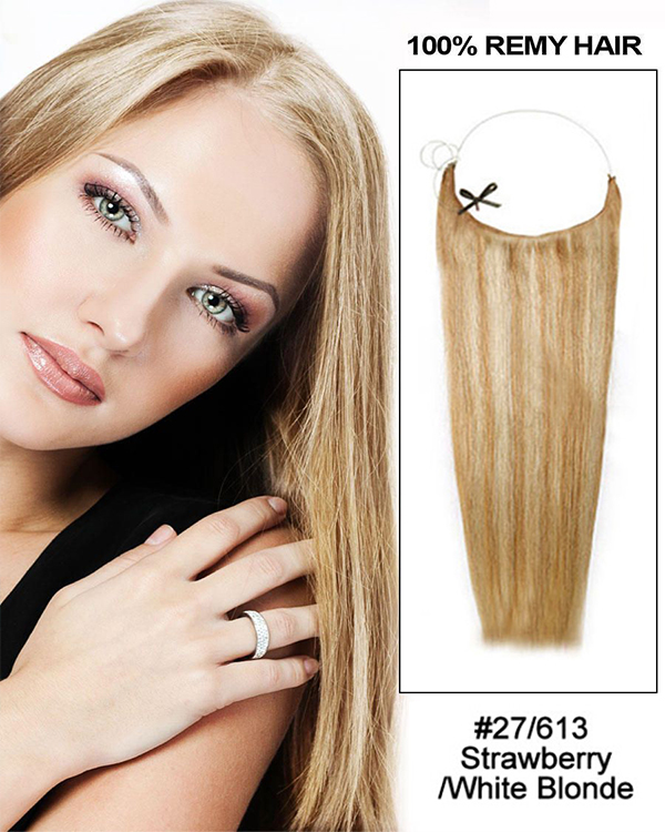 "20"" #27/613 Strawberry/White Blonde Straight Flip In Human Hair Extensions 100% Remy Hair"