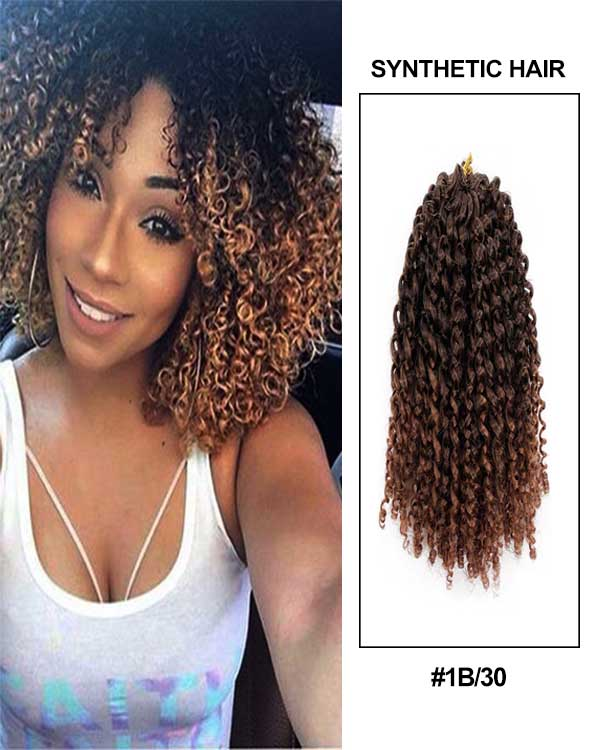8 12 Black Brown Marlybob Style Jerry Kinky Curly Ombre Color Afro Kinky Twist Hair Marley Crochet Braids Soft Synthetic Crochet Hair Extensions