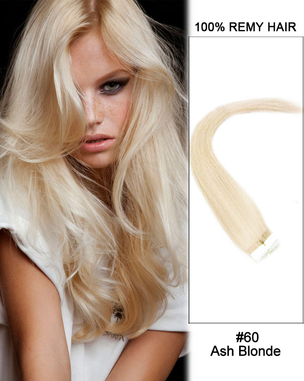 60 ash blonde straight 100 remy hair tape in hair extensions 40 pcs 14 60 ash blonde straight 100 remy hair tape in hair extensions 40 pcs pmusecretfo Image collections