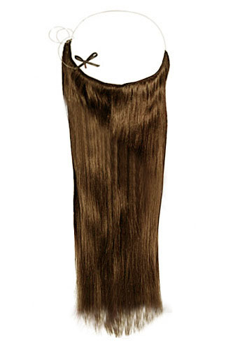 "16"" #6 Chestnut Brown Straight Invisible Wire Secret Hair Extensions 100% Remy Hair Human Hair Extensions"