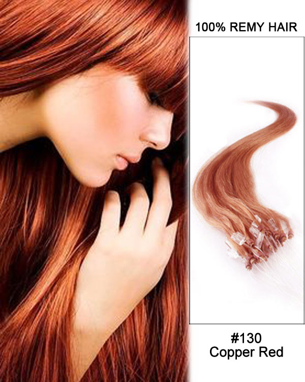130 copper red straight micro loop 100 remy hair human hair 14 130 copper red straight micro loop 100 remy hair human hair extensions 100 strands 1gstrand pmusecretfo Images