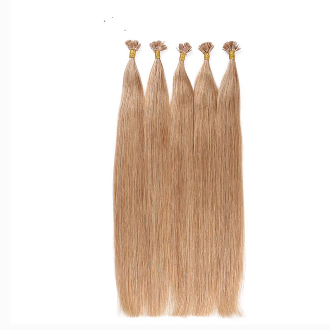 1418 Dark Ash Blonde Straight Flat Tip 100 Remy Hair Pre Bonded Extensions Strands 1g Strand