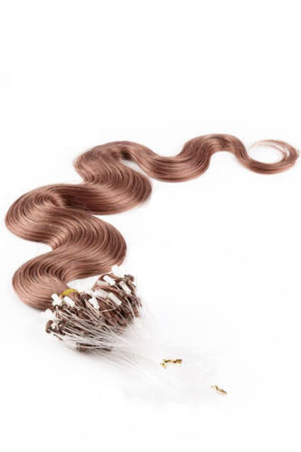 "14"" #33 Dark Auburn Body Wave Micro Loop 100% Remy Hair Human Hair Extensions-100 strands, 1g/strand"