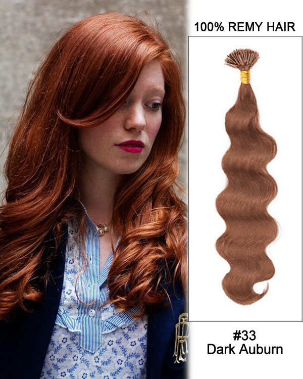 18 30 100 Strands I Tip Keratin Fusion Remy Human Hair Extensions