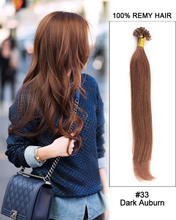 33 dark auburn straight nail tip u tip 100 remy hair keratin hair 16 33 dark auburn straight nail tip u tip 100 remy hair keratin hair extensions 100 strands pmusecretfo Image collections