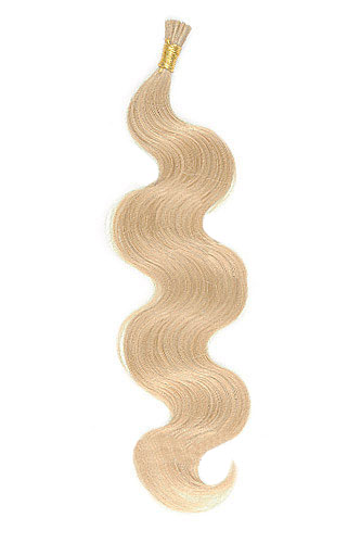 "16"" #16 Dark Honey Blonde Body Wave Stick Tip I Tip 100% Remy Hair Keratin Hair Extensions-100 strands, 1g/strand"