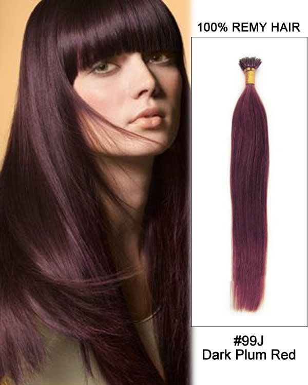 99j dark plum red straight stick tip i tip 100 remy hair keratin 14 99j dark plum red straight stick tip i tip 100 remy hair keratin hair extensions 100 pmusecretfo Image collections