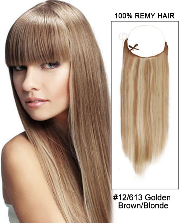18 12613 Golden Brownblonde Straight Invisible Wire Secret Hair