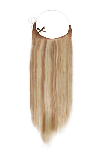 "18"" #12/613 Golden Brown/Blonde Straight Invisible Wire Secret Hair Extensions 100% Remy Hair Human Hair Extensions"