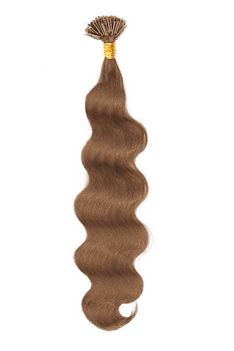 "16"" #30 Light Auburn Body Wave Stick Tip I Tip 100% Remy Hair Keratin Hair Extensions-100 strands, 1g/strand - Click Image to Close"