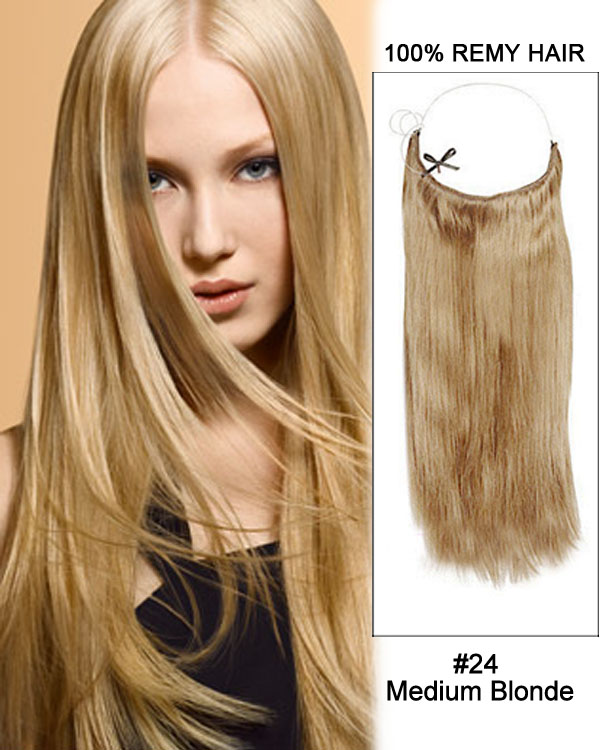 18 24 Medium Blonde Straight Flip In Human Hair Extensions 100 Remy