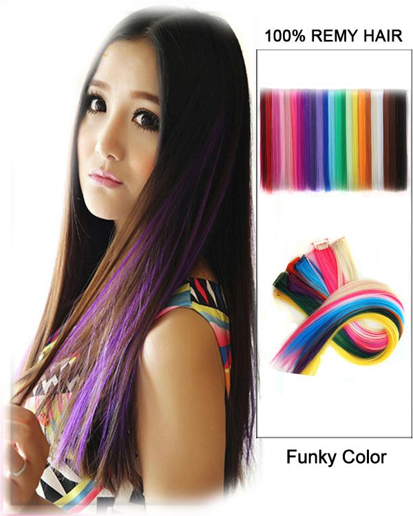 "18"" Tape in Funky Colors Remy Hair Human Hair Extensions Funky Colors 50g 20 Pieces"