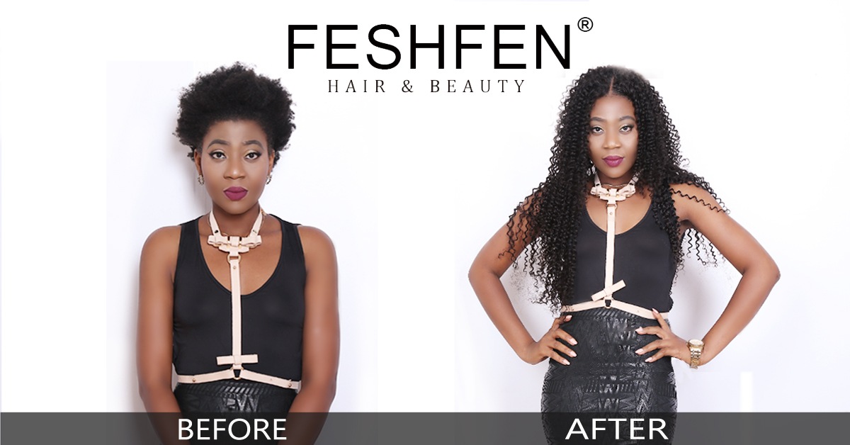 black lady hair extensions before and after black lady