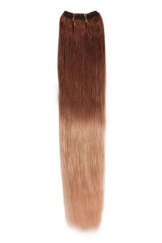 18 30 27 Auburn Blonde Ombre Straight Weave Remy Human Hair Extension