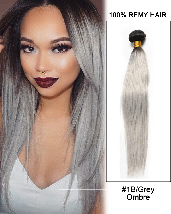 Black grey ombre weave straight weft remy human hair extensions 16 black grey ombre weave straight weft remy human hair extensions pmusecretfo Gallery