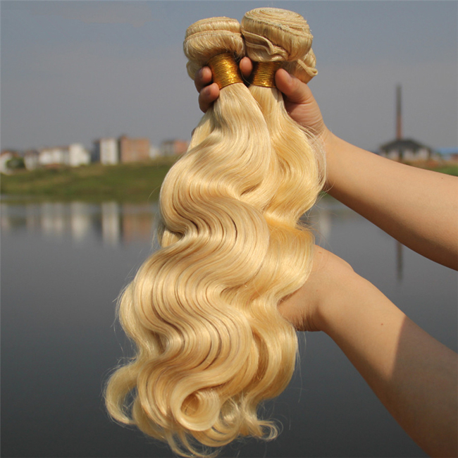 16 613 Bleach White Blonde Hair Body Wave Hair Bundles