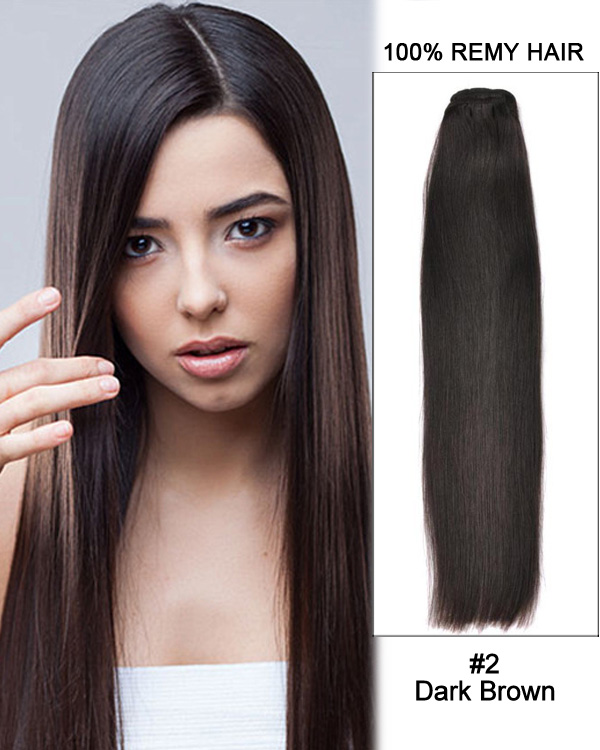 18 silky straight brazilian remy hair weave human hair extensions 16 silky straight brazilian remy hair weave weft human hair extension 2 dark pmusecretfo Images