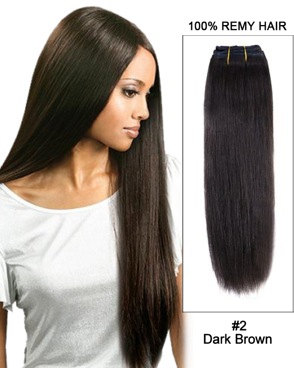 142 Dark Brown Straight Weave 100 Remy Hair Weft Hair Extensions