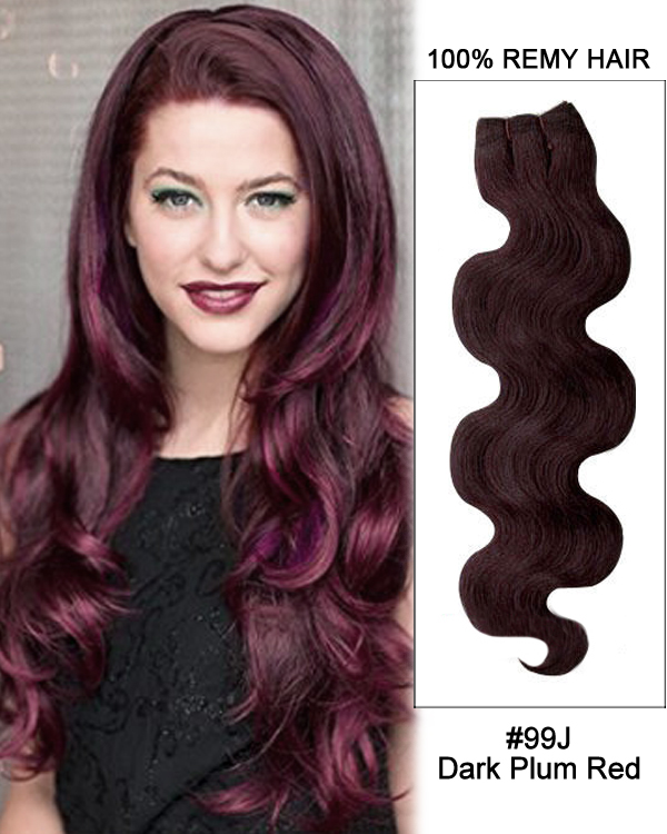 99j dark plum red body wave weave remy human hair extension 20 99j dark plum red body wave weave remy human hair extension pmusecretfo Images