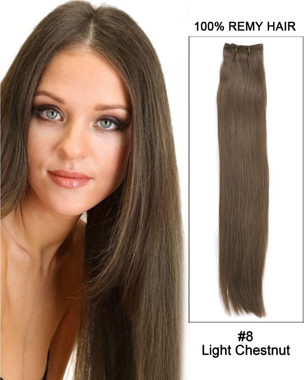 18 silky straight brazilian remy hair weave human hair extensions 18 silky straight brazilian remy hair weave human hair extensions 8 light chestnut pmusecretfo Choice Image