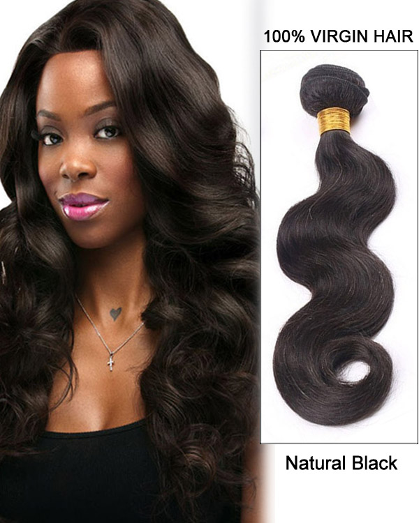 "16"" Body Wave Brazilian Virgin Hair Weave Weft Human Hair Extensions"