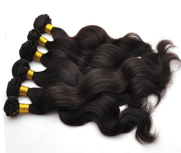 Natural Black Body Wave 3 Bundles Brazilian Virgin Hair Weave Human Hair Extension