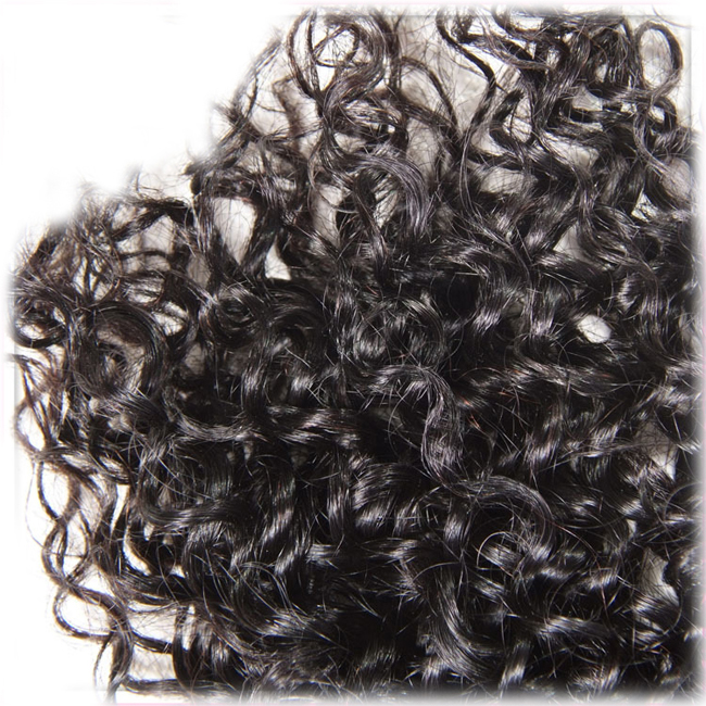 Natural Black Kinky Curly 3 Bundles Malaysian Virgin Hair Weave Human Hair Extensions