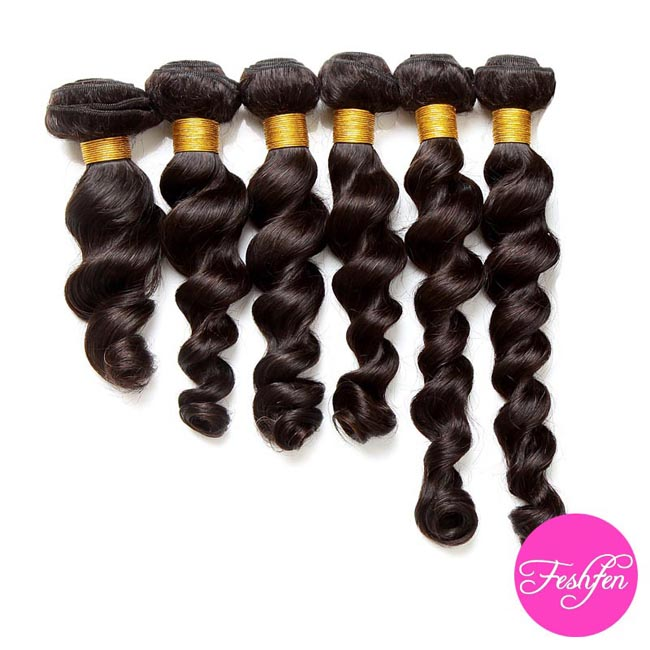 22 Loose Wave Remy Hair Weave Weft Human Hair Extension 1b Natural