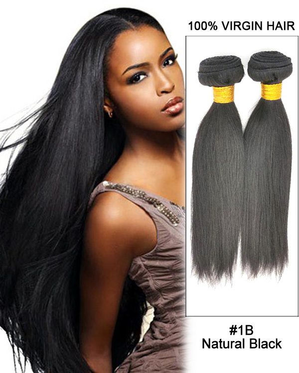 Natural Black Straight 3 Bundles Unprocessed Malaysian Virgin Hair Weave Remy Hair Weft Human Hair Extension